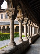 Romanesque cloister of cathedral, La Seu d´Urgell, Lleida province, Catalonia, Spain