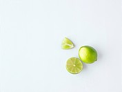 Lime whole, half and a wedge