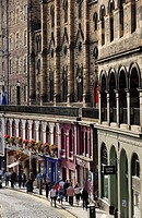 Victoria street. Edinburgh. Scotland. Great Britain.