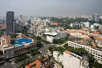 The center of Saigon City, Vietnam, Asia