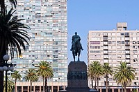 General Artigas statue in Independence square, Montevideo, Uruguay