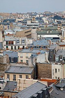 View of the rooftops of Paris, France, high angle view