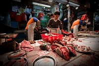 Street fishmongers in Wan Chai, Hong Kong, China