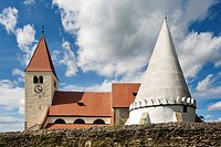 church and ossuary in Friedersbach, Zwettl, Waldviertel, Lower Austria, Austria