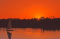 Felucca on the Nile,Egypt