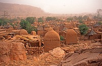 Dogon village on the Bandiagara escarpment,Mali