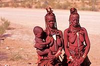 Himba women, Kaokoland, Namibia