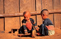 Kaya children, mountain tribe, North Thailand