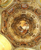the stunning painting on the dome of the UNESCO listed St Vitalis at Ravenna