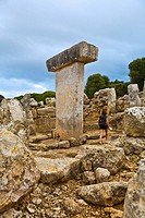 Taula de Torralba. Prehistoric Village of Torralba d en Salord. Minorca. Balearic Islands.Spain.