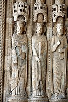 Portal of Bourges Cathedral 1195-1270, UNESCO World Heritage Site, Bourges, France