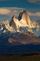 Cerro Fitzroy in morning light, Parque Nacional Los Glacieres, southern Patagonia, Argentina