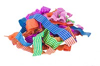Close_up of tangled paper ribbons