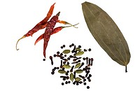 High angle view of assorted spices