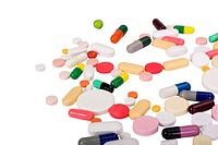 Close_up of assorted pills