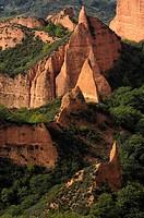 Las Médulas, ancient roman gold mining site  León province, Castilla-León, Spain