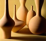 Variety of forms of pottery