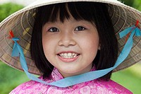 Portrait of a girl smiling, Ho Chi Minh City, Vietnam