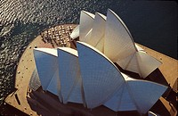Vertical aerial view of the Sydney Opera House
