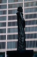 Low angle view of statue of Gomidas Vartabed, Detroit, Michigan, USA