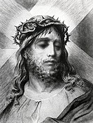 Crown of Thorns, Gustave Dore 1832_1883 French, engraving, 1832_1883