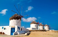 Mykonos, Greece is famous for its windmills, some of which date to the 16th century.