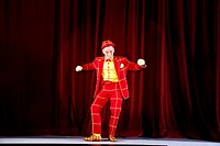 clown performing on stage