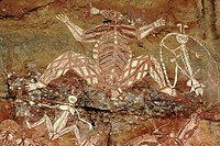Aboriginal rock art, Nourlangie Rock, Kakadu, Northern Territory