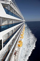 cruise ship on ocean