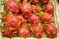 The pitaya dragon fruit, strawberry pear, nanettikafruit, or thanh long is the fruit of several cactus species