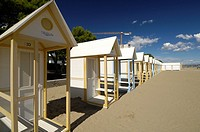 Beach cabins in Lignano Sabbiadoro
