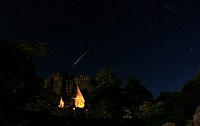 Fireballs are very bright and rare meteors. Here a dazzling fireball graces the northern sky above the monastery of Geghard, a World Heritage Site in ...