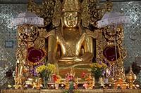 Myanmar, Burma, Mandalay, Sandamani Pagoda, Buddha image,