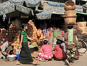 Myanmar, Burma, Mandalay, market, people,