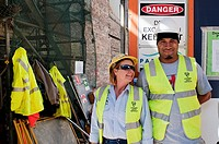 Laborers in the city, Sydney, New South Wales, Australia