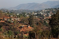 Myanmar, Burma, Kalaw, general view, mountain landscape,