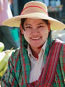 Myanmar, Burma, Kalaw, woman portrait, people,