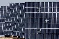 Electric solar panels, Murcia, Spain