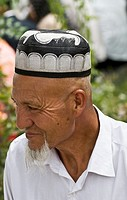 Portrait of an Uyghur man.