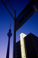 Tv Tower Berlin Germany at Night