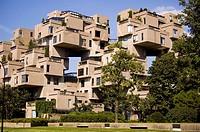 Habitat 67, an apartment building in Quebec, Canada