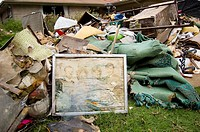 Personal belongings destroyed by the flooding after Hurricane Katrina, Lake Shore District, New Orleans, LA