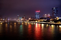 Haiyin Bridge at night,Guangzhou,China
