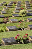 Allied WWII War Cemetery, Kanchanaburi, Thailand