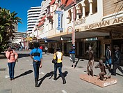 Namibia - The Independence Avenue, the main street of Namibia´s capital Windhoek, has some well-preserved buildings of German colonial architecture