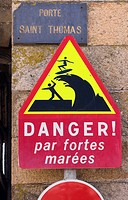 A danger sign about big waves