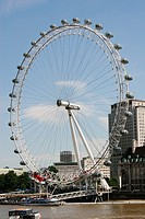 The millenium wheel, London eye on the River Thames in london