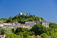 The medieval town of Montaigu de Quercy in Tarn et Garonne France Europe