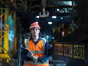 Portrait Of Steel Engineer In Factory