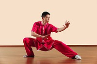 Kung Fu, Baguazhang, Ban mabu tuizhang, Young man practicing martial arts